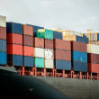 Boat carrying containers - Stock Photo