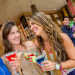 Women at a bar — Stock Photo