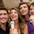 Stock Photo: Karaoke singing