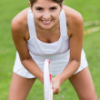 Female tennis player — Stock Photo