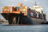 Trade boat — Stock Photo