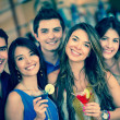 Group of friends going out — Stock Photo