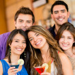 Group of friends having drinks — Stock Photo