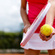 Female tennis player — Stockfoto #25039123