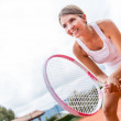Female tennis player — Stockfoto