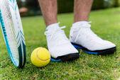 Tenisçi mahkemesi — Stok fotoğraf