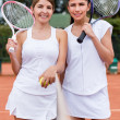 Female tennis players — Stock Photo #25081599