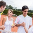 Stock Photo: Tennis handshake
