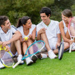 Stock Photo: Group of tennis players