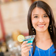 Woman having a drink — Stock Photo #25081661