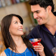 Couple having a drink — Stock Photo