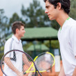 Stock Photo: Male tennis players