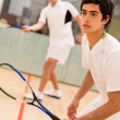 Stock Photo: Males playing squash