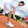 Couple playing tennis — Stock Photo #25081717