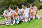 Group of tennis players — Stock Photo
