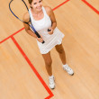 Stock Photo: Womplaying squash