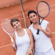 Female tennis players - Foto Stock