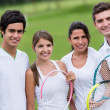 Royalty-Free Stock Photo: Group of tennis players