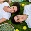 couple of tennis players — Stock Photo