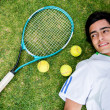 Foto Stock: Portrait of a tennis player