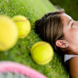 Royalty-Free Stock Photo: Thoughtful tennis player