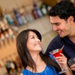 Stock Photo: Couple on date having drinks