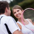 Royalty-Free Stock Photo: Tennis couple