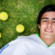 Foto Stock: Male tennis player