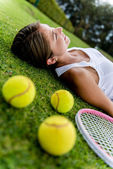 Tired tennis player — Stock Photo