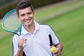 Jogador de tênis masculino — Foto Stock