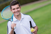 Male tennis player — Stok fotoğraf