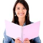 Studentin mit einem notebook — Stockfoto