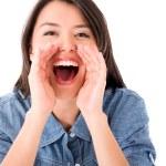Woman screaming — Stock Photo #25324217