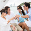 Group of on a boat — Foto Stock