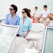 Stock Photo: Group of friends sailing