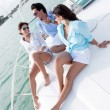 Stock Photo: Relaxing on a boat