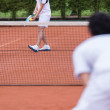 Men playing tennis — Stock Photo