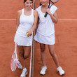 Female tennis players — Stock Photo #25327789