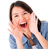 Woman shouting — Stock Photo