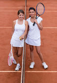 Female tennis players — Zdjęcie stockowe