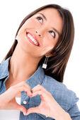 Woman in love — Stock Photo