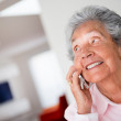 Elder woman on the phone — Stock Photo