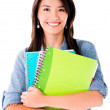 Woman holding notebooks — Stock Photo #25458641