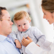 Baby at the pediatrician — Stock Photo