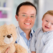 Happy pediatrician — Stock Photo