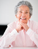 Portrait of an senior woman — Stock Photo