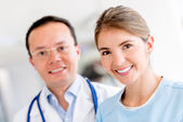 Medical group at the hospital — Stock Photo