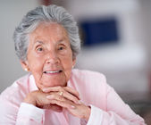 Portrait of an elder woman — Stock Photo