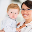 Stock Photo: Doctor with little boy