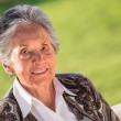 Senior woman portrait - Stock Photo